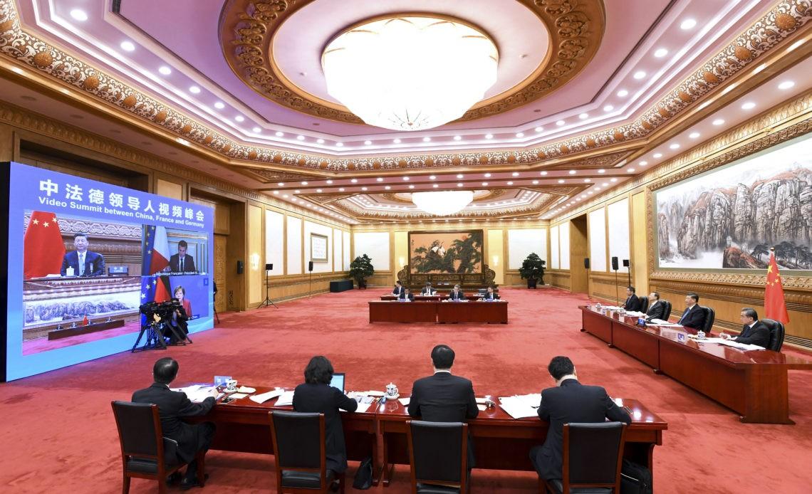 China-France-Germany-video-summit